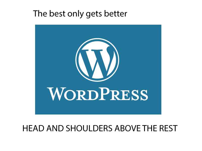 Wordpress is the best and it only gets better